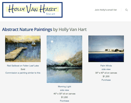 Holly Van Hart artwebsite