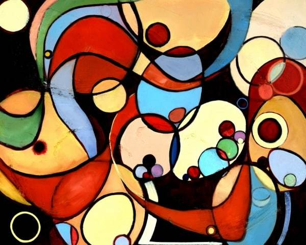 abstract painting by Holly Van Hart