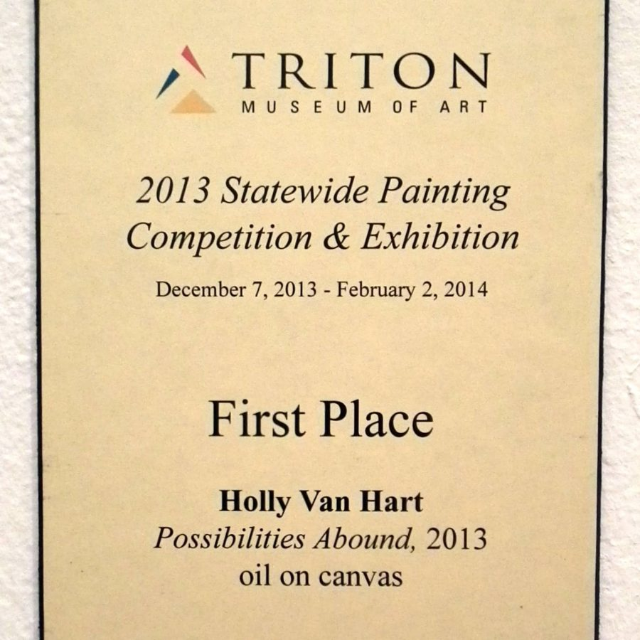 The Start Of It AllThe Triton Solo Exhibition Was The Prize For Winning The California Statewide Painting CompetitionFeeling So Honored!, Triton Museum Of Art, Holly Van Hart