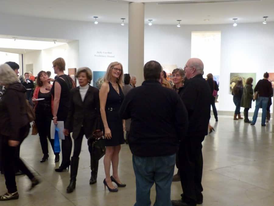 Busy Night! Reception, Holly Van Hart Solo Exhibition, Triton Museum Of Art