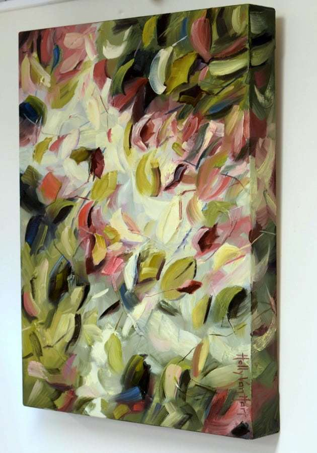 Afternoon Light, Abstract Nature Painting By Holly Van Hart