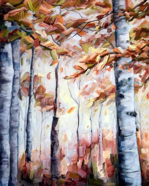 'Autumn Reds', Oil painting by Holly Van Hart