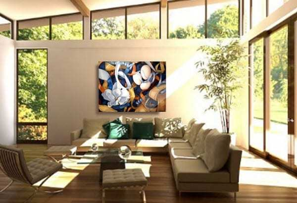 Nature paintings installed in collectors' homes | Landscapes Trees Forests Flowers|By artist Holly Van Hart