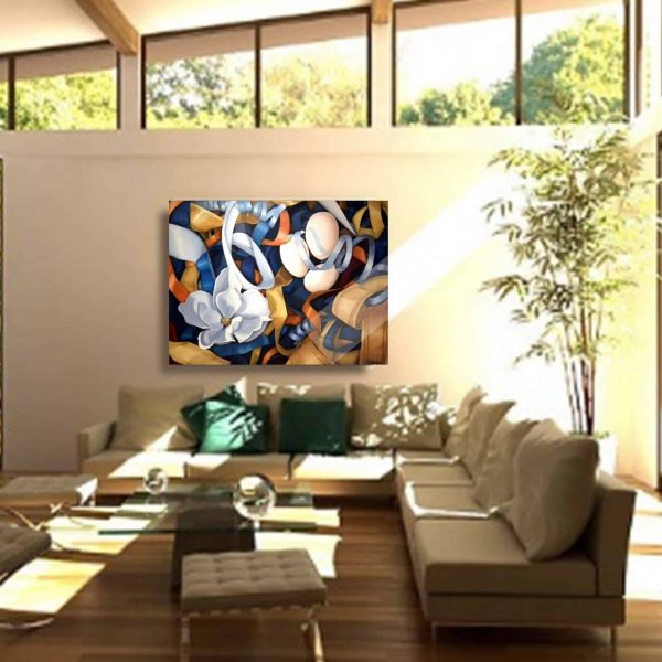 Posh, Oil Painting By Holly Van Hart, Installed