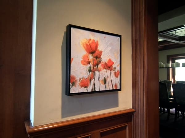 Popping, Oil Painting By Holly Van Hart, Installed