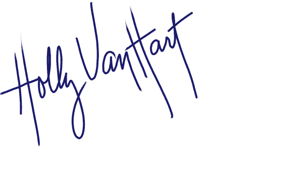 Signature of artist Holly Van Hart