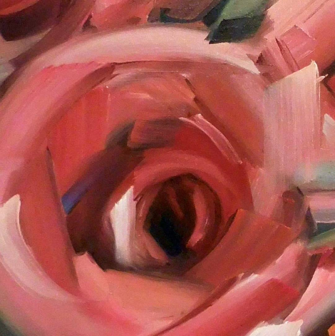 The making of a rose painting (video)