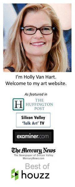 Holly Van Hart | abstract nature paintings | oil painting
