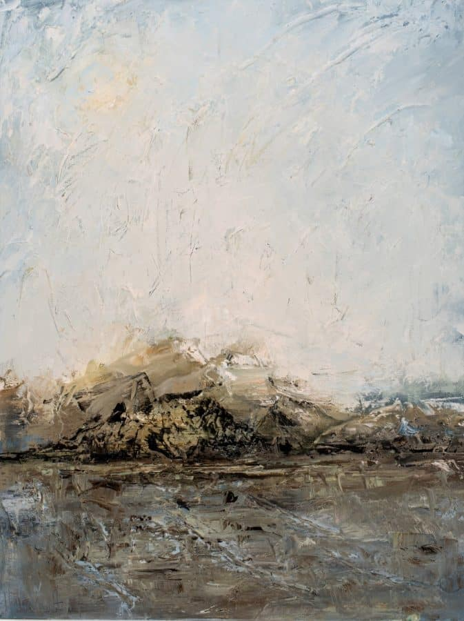 Abstract landscape | Every Mountain Speaks | Oil painting by Holly Van Hart | Award winning American artist
