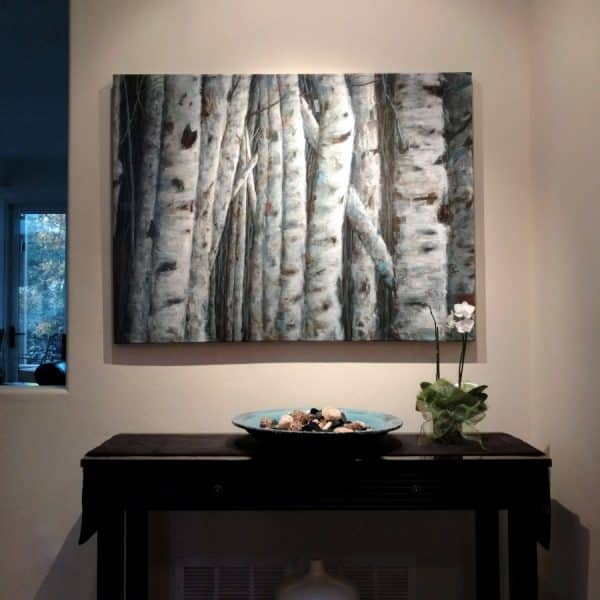 Birch-Aspen-Painting-by-Holly-Van-Hart-The-Stories-They-Tell-36x48x1.5 Installed (Custom)
