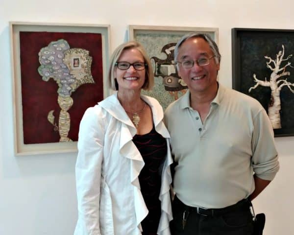 DeWitt Cheng, Holly Van Hart, at Stanford Art Spaces reception
