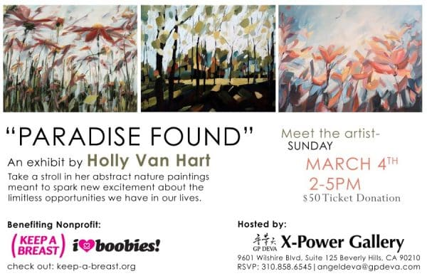 Paradise Found solo exhibition - Holly Van Hart - Beverly Hills, CA