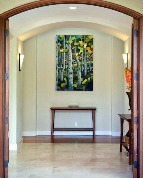 You're InvitedOil And Acrylic PaintingHung In Collector's Entryway