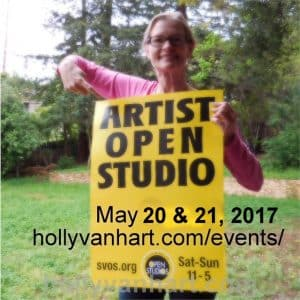 Open Studio - artist Holly Van Hart - Saratoga, CA
