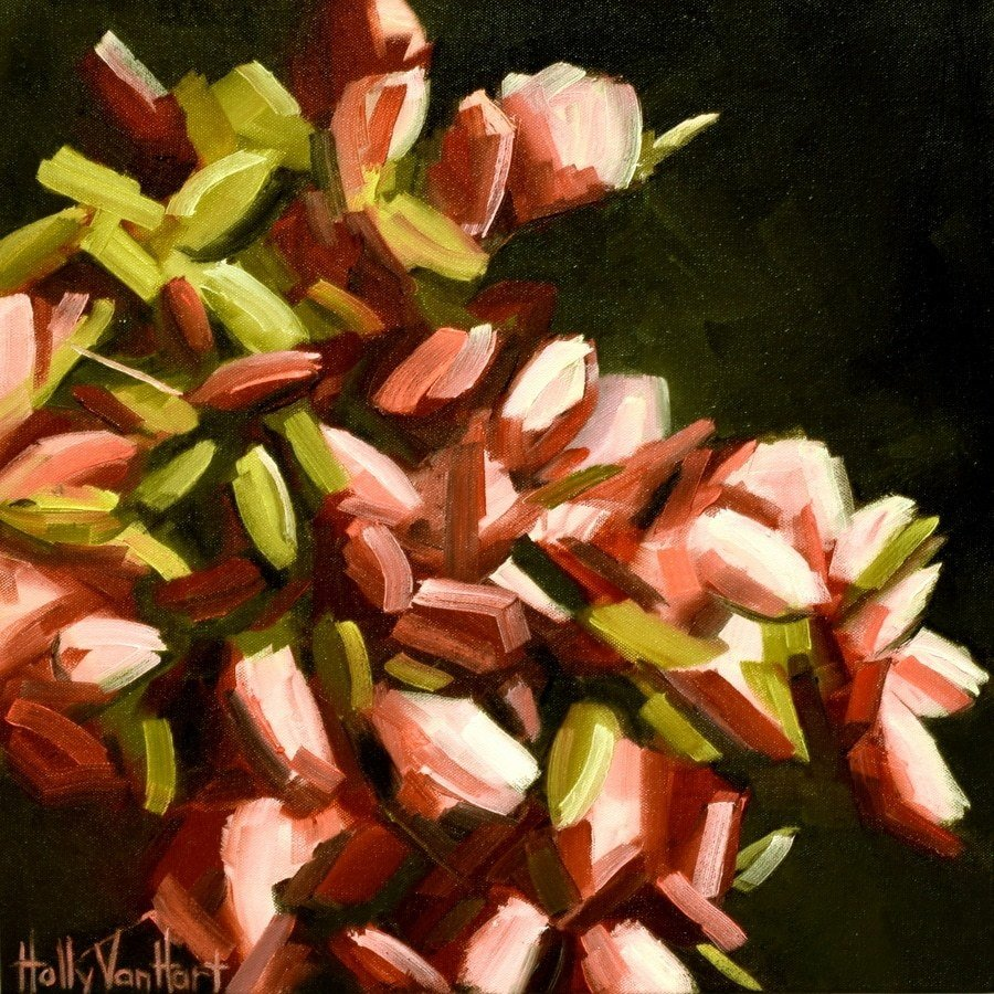 Blooms Abounding, Abstract Nature Painting By Holly Van Hart