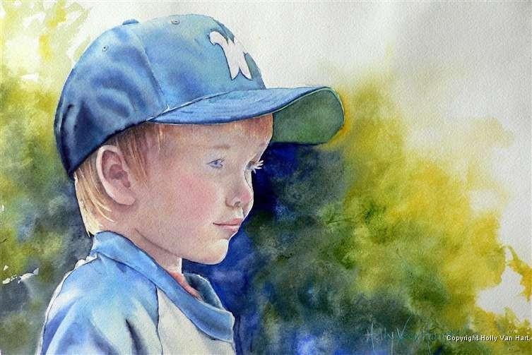 Watercolor painting by Holly Van Hart