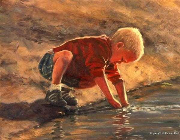 Oil painting by Holly Van Hart