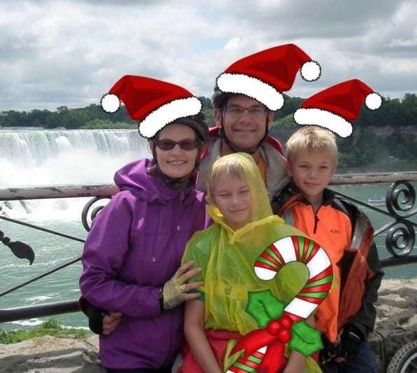 Photo of Holly, Ike, Erik, Skyler at Niagara Falls, Summer 2013