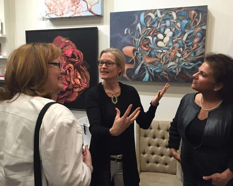 Holly Van Hart - It's always fun when someone asks about the story behing your artAt my opening reception at JCO's Place gallery, April 2015