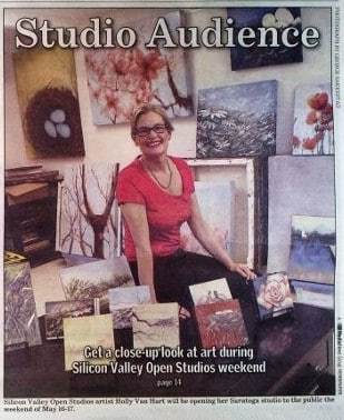 Saratoga News cover photo of Holly Van Hart, Silicon Valley Open Studios