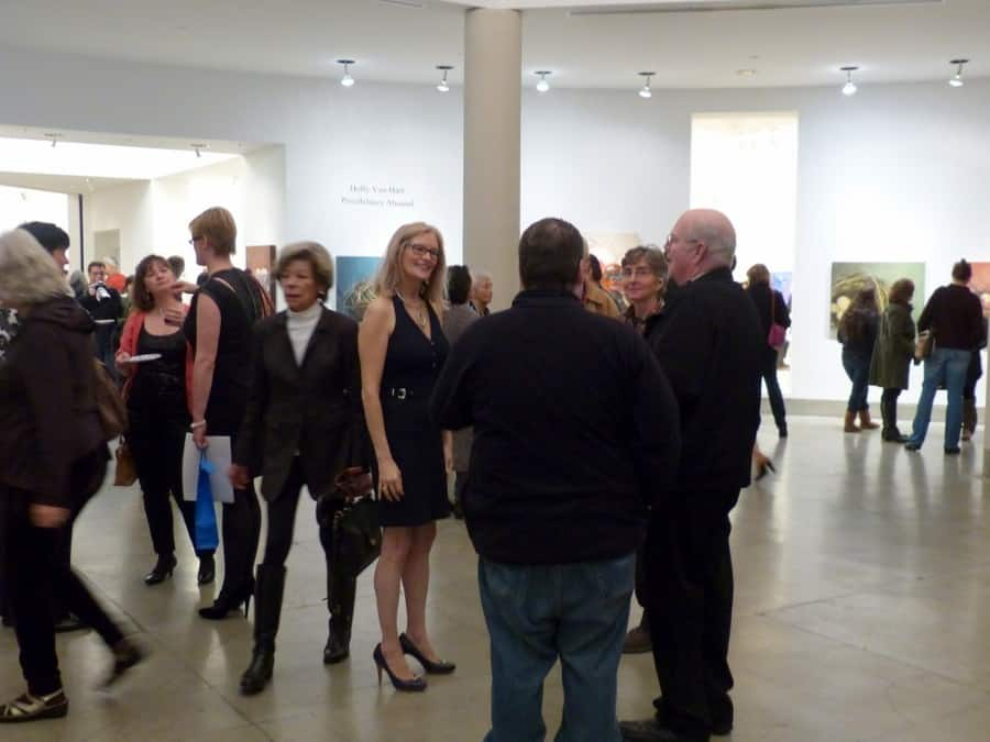 Busy night! Reception, Holly Van Hart solo exhibition, Triton Museum of Art