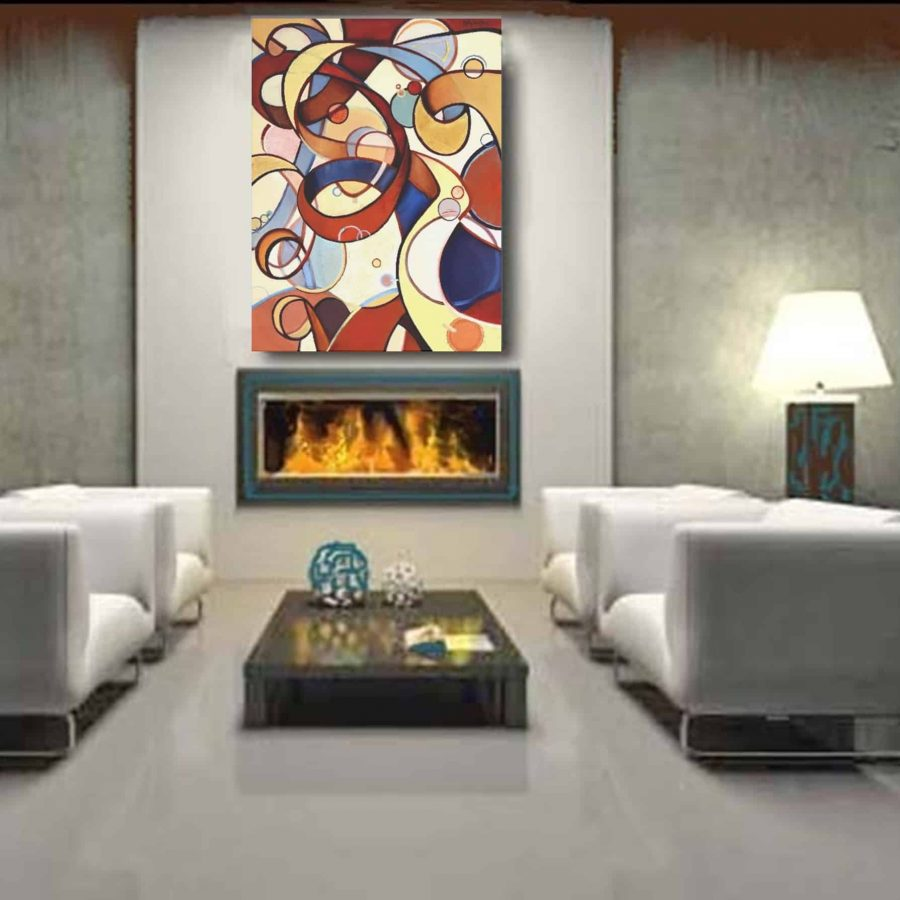 Possibilities Unfurling, Oil painting by Holly Van Hart, installed