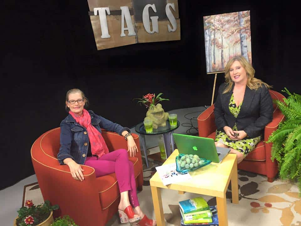 Artist Holly Van Hart Being Interviewed On Silicon Valley TV By Executive Producer Heather Durham, Regarding Her Art Career And Nature Paintings
