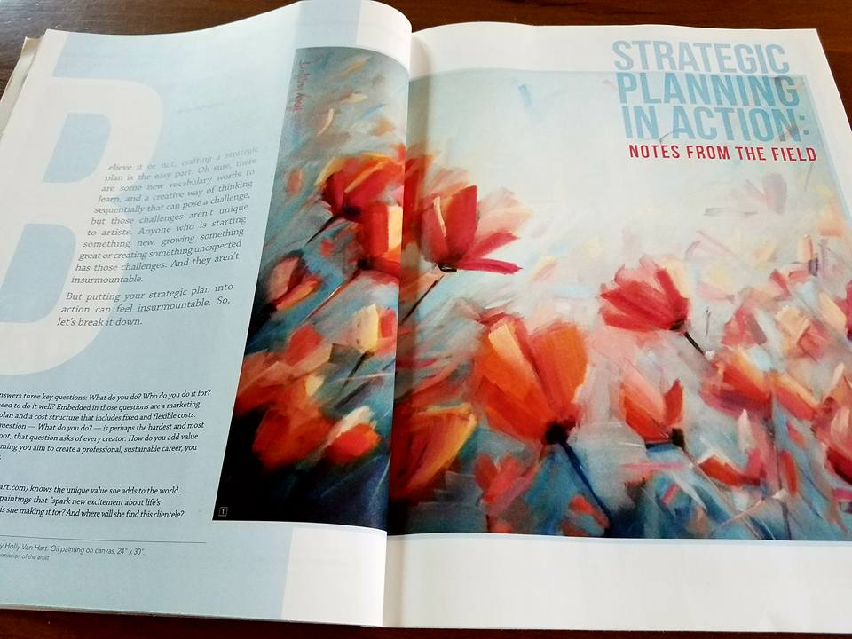 Professional Artist Magazine, featuring paintings by Holly Van Hart in article by Elaine Grogran Luttrull