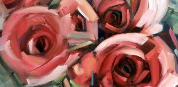 Abstract Rose Painting By Holly Van Hart