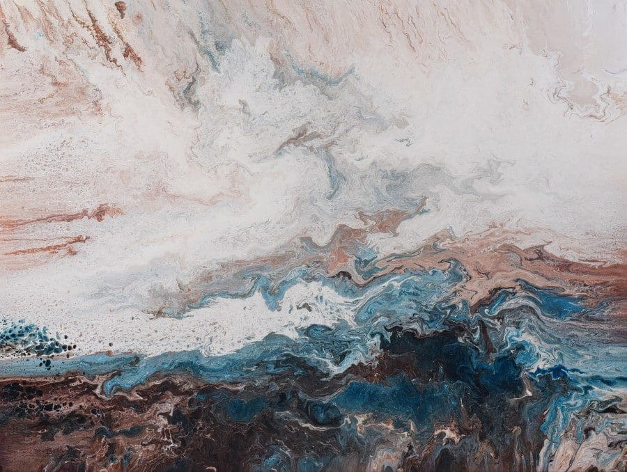 """Abstract landscape seascape painting 