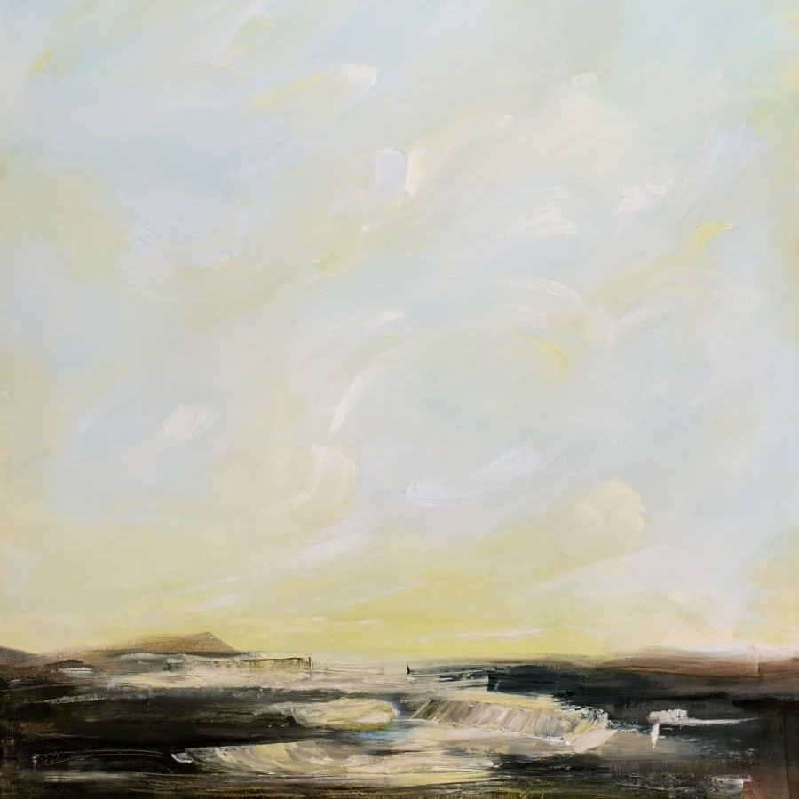"""The Boundary Of Spring<br>48 X 36"""" Oil Painting On Canvas By Holly Van Hart<br>$4800"""