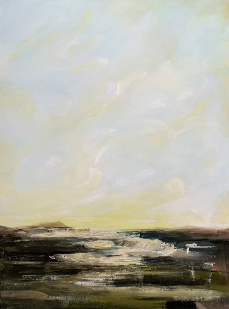 """The Boundary of Spring48 x 36"""" oil painting on canvas by Holly Van Hart$4800"""