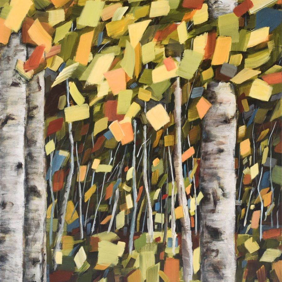 """abstract forest landscape painting 