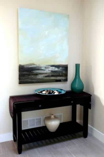 New painting in entryway