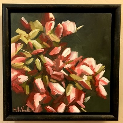 Blooms AboundingOil painting by Holly Van HartFramed and hung in collector's home