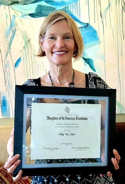 the National Society of the Daughters of the American Revolution recently gave Holly Van Hart the Women in the Arts Recognition Award, which spotlights women who have made significant achievements in their artistic fields.