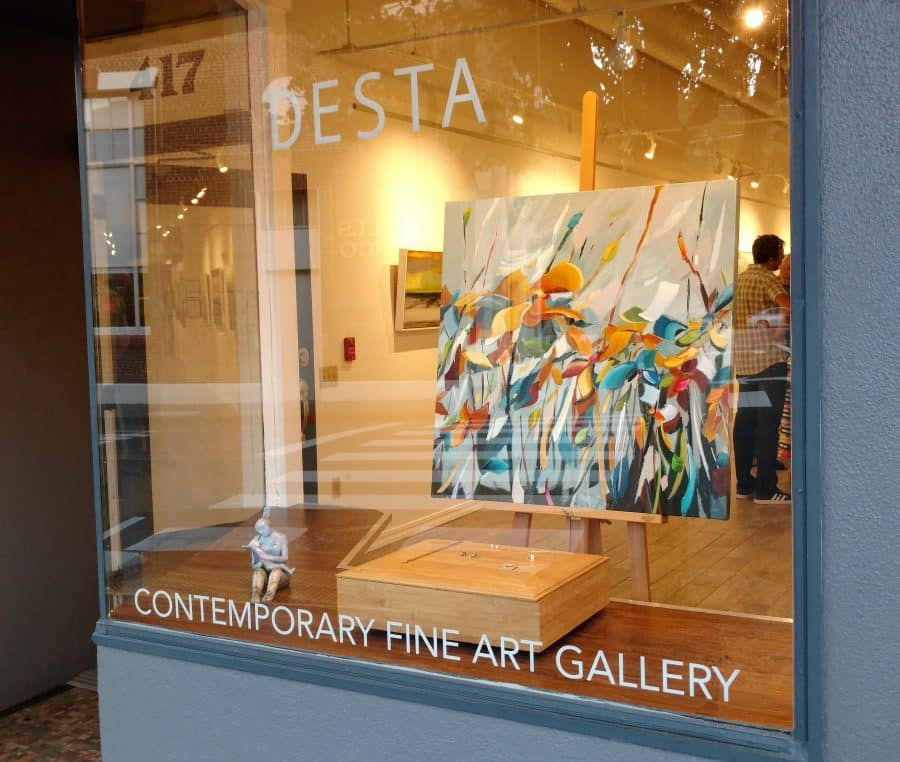 Desta Gallery solo show for Holly Van Hart - trees forests flowers