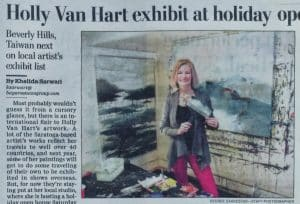 Artist Holly Van Hart exhibits in Beverly Hills and Taiwan