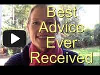 What's the best advice you're ever received? Video by artist Holly Van Hart (1 minute)
