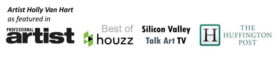 Holly Van Hart | Huffington Post | Professional Artist Magazine | Silicon Valley TV | Best of Houzz