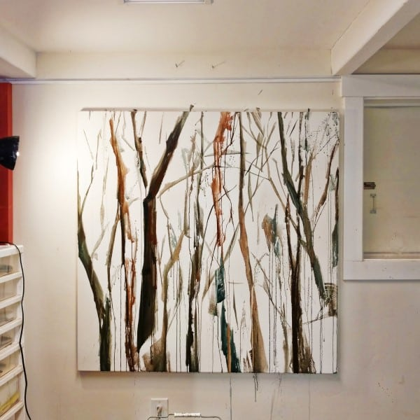 Forest landscape painting in progress | Holly Van Hart
