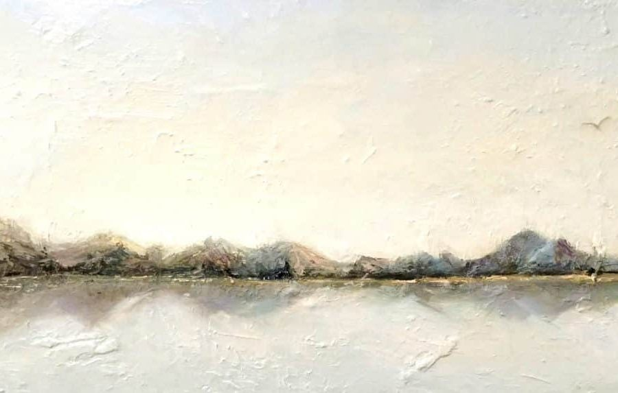 """Abstract landscape painting 