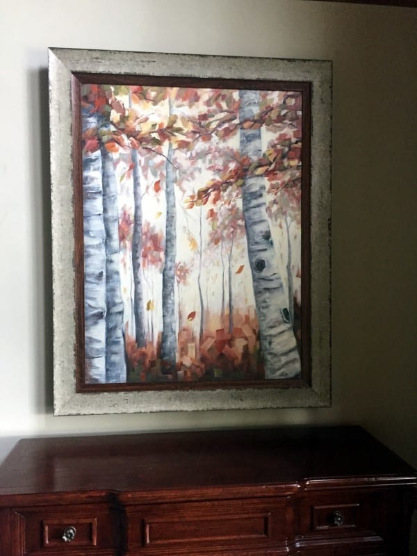 Abstract Forest Painting by Holly Van HartInstalled in collector's living room