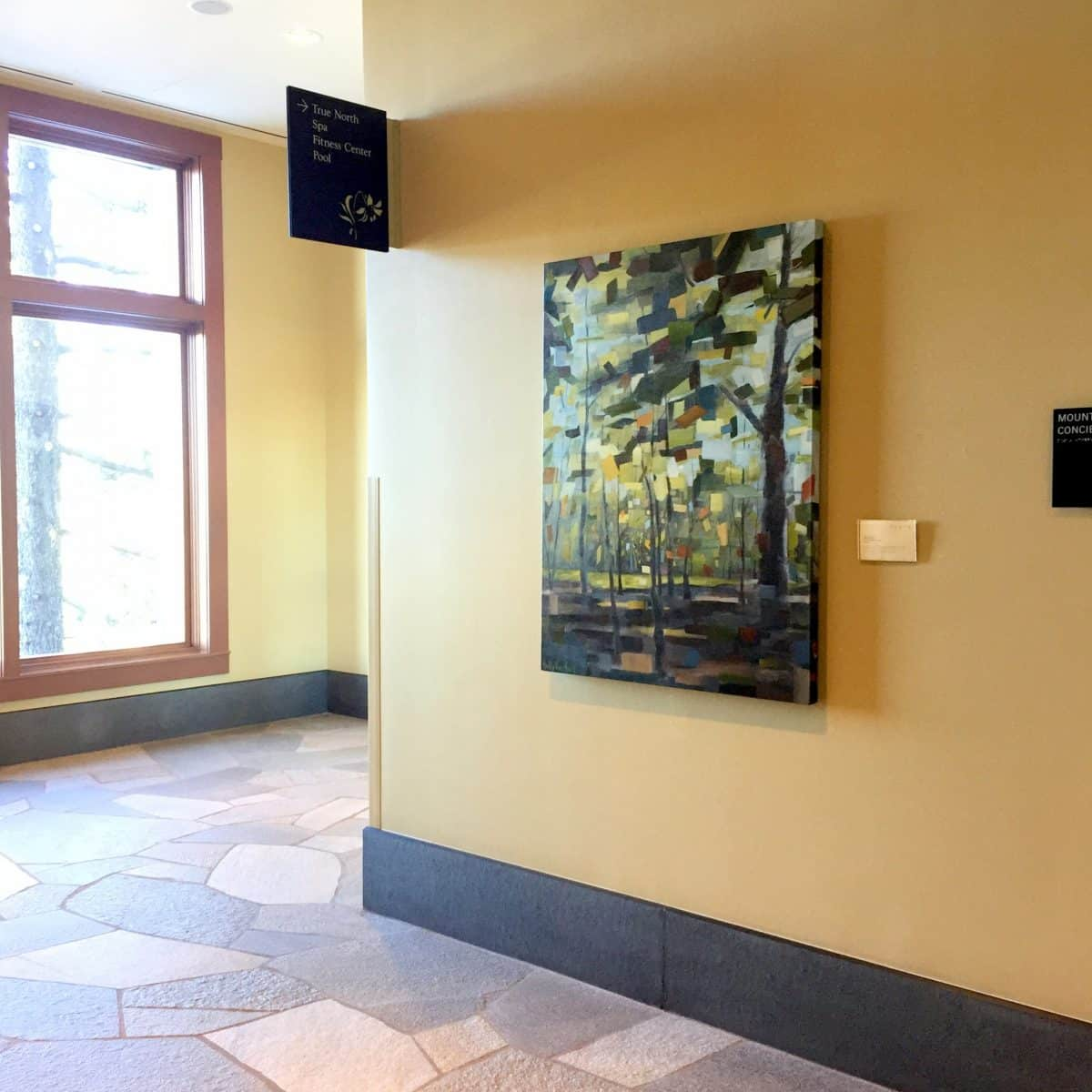 At The Ritz-Carlton, Exhibition Curated By Slate Consulting, Abstract Nature Painting By Holly Van Hart