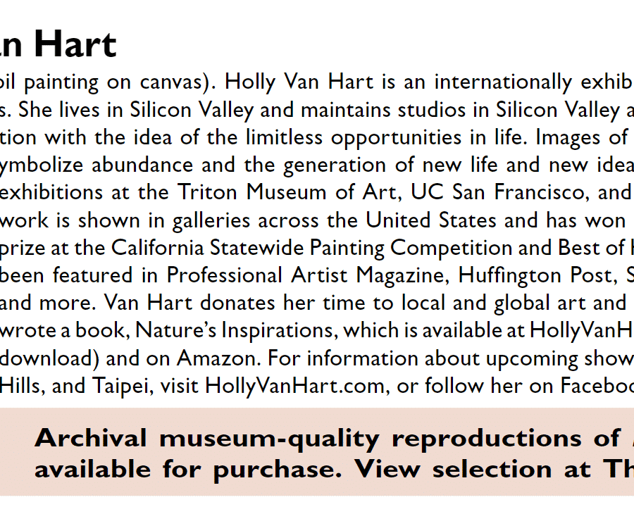 Press | The Monthly magazine| California artist Holly Van Hart | Forest tree landscape painting