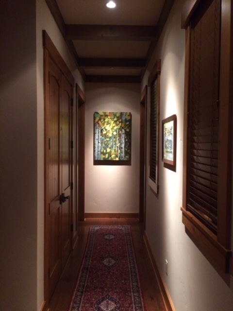 The Voice of LeavesMixed media painting by Holly Van Hart, installed
