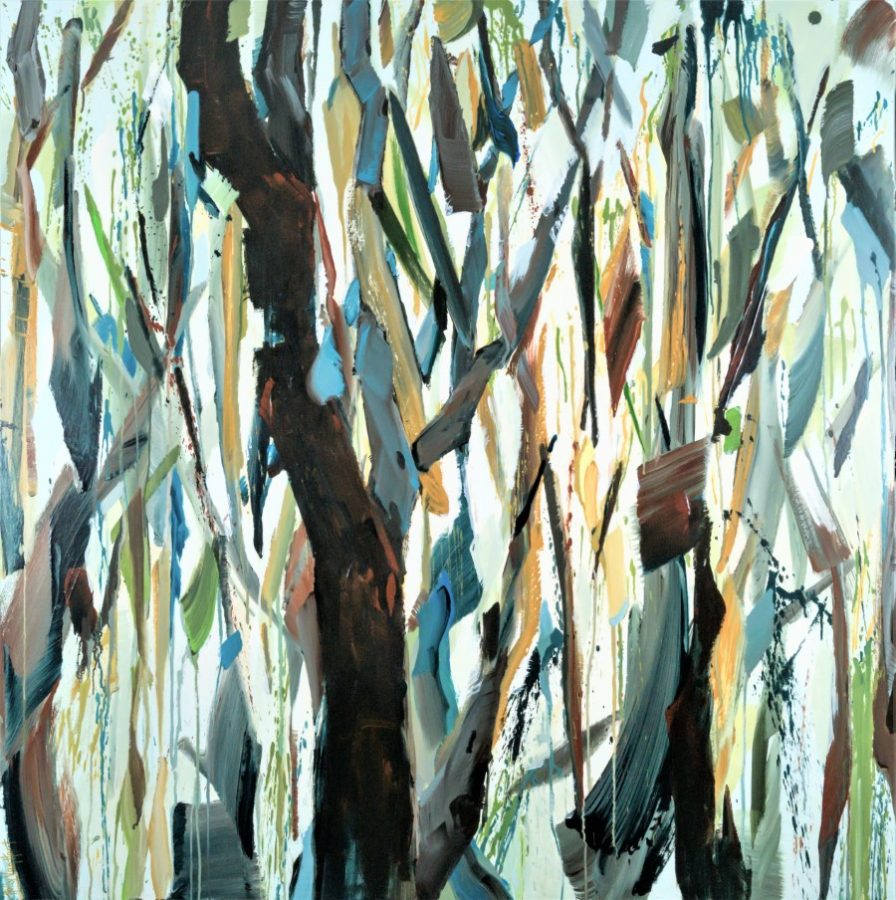 forest tree painting by American painter Holly Van Hart