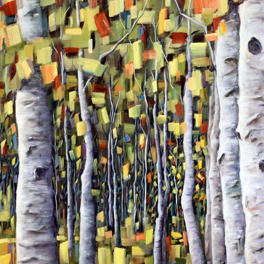 Abstract Forest and Birch Tree paintings by Holly Van Hart | Awarded Best of Houzz and Grand Prize at the California Statewide Painting Competition