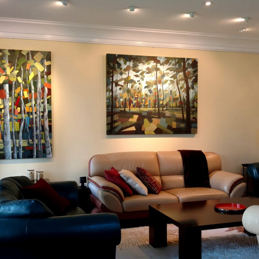 Abstract Forest Paintings On Canvas | Paintings For Sale