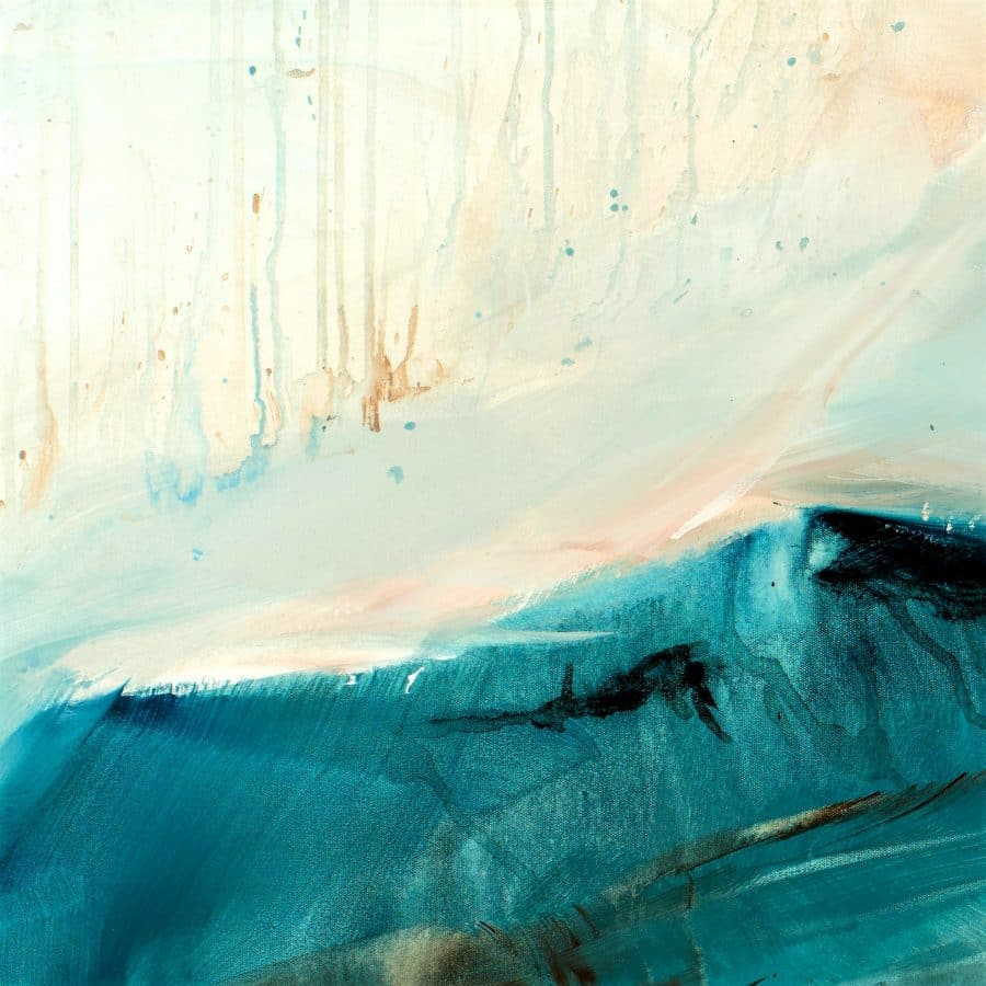 Abstract Landscape Painting - Magnetic Dreams 48 X 60 Mixed Media Painting By Holly Van Hart (detail) 2